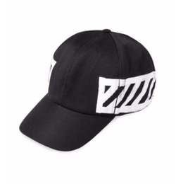 Off-White  - Striped Cotton Sports Cap