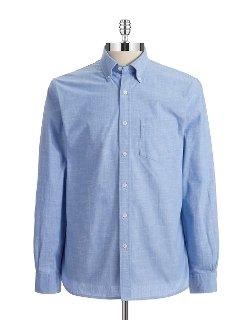 Brooks Brothers Red Fleece - Hi-Lo Chambray Sportshirt