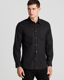 John Varvatos - Solid Button Down Shirt