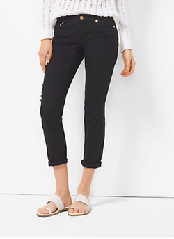 Michael Michael Kors   - Distressed Cropped Jeans
