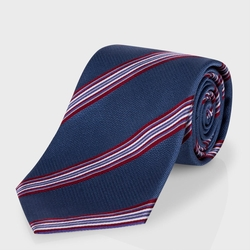 Paul Smith  - Light Navy Diagonal Stripe Classic Silk Tie