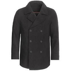 Sierratradingpost - Double-Breasted Pea Coat - Wool Blend, Insulated
