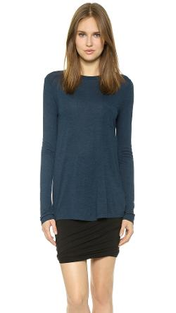T by Alexander Wang  - Classic Long Sleeve Tee with Pocket