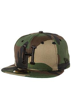 HUF  - The Classic H New Era Fitted Hat in Woodland Camo