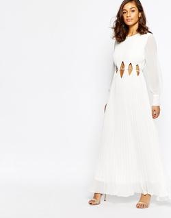True Decadence Petite - Long Sleeve Maxi Dress