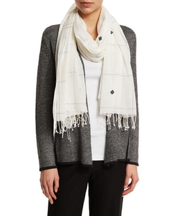 Eileen Fisher - Jamdani Hand-Loomed Check Scarf