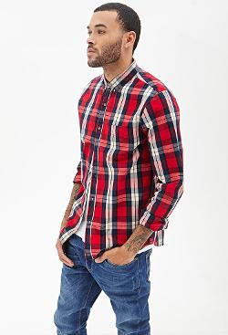 Forever 21 - Classic Collared Plaid Shirt