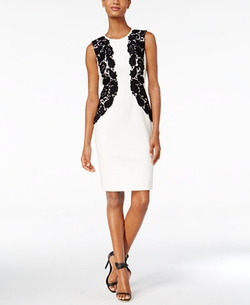 Calvin Klein - Lace-Trim Sheath Dress