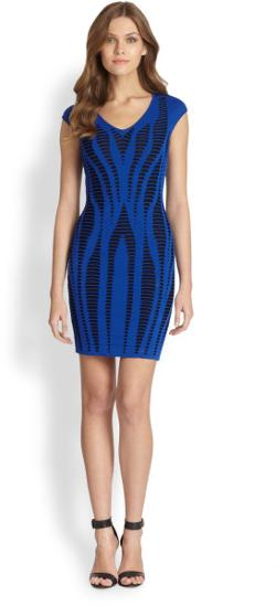 RVN  - Cutout Knitted Sheath Dress