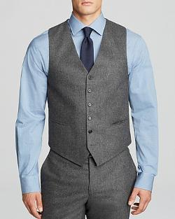 John Varvatos  - Luxe September Solid Flannel Vest
