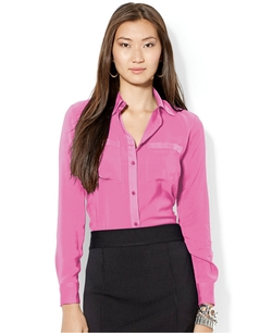 Lauren Ralph Lauren - Satin Button-Front Shirt
