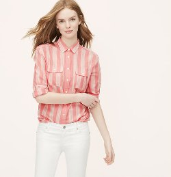 Loft - Mixed Stripe Softened Shirt