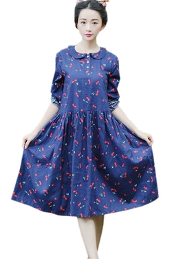 Azbro - Sweet Cherry Peter Pan Dress