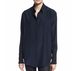 Rag & Bone - Edith Long-Sleeve Silk Blouse