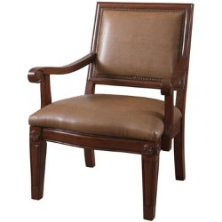 Douglas Bonded  - Leather Accent Chair