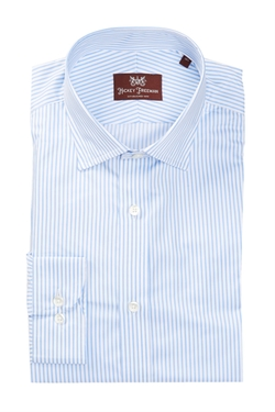 Hickey Freeman - Spread Collar Striped Dress Shirt