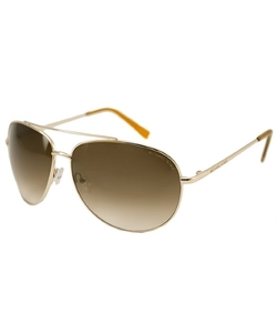 MichaelMichael Kors - Gold Aviator Metal  Sunglasses