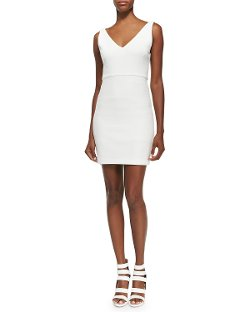 Alice + Olivia	  - V-Neck Sleeveless Fitted Dress