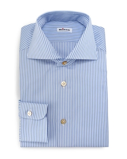 Kiton - Alternating-Stripe Button-Down Sport Shirt