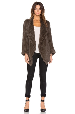 Jennifer Kate - Cascade Rabbit Fur Coat
