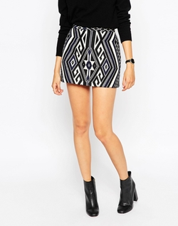 Asos Collection - Jacquard Mini Skirt