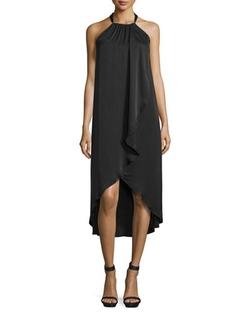 Ella Moss - Seti Drape-Front Halter-Neck Dress