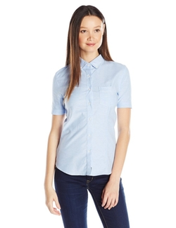 Lee  - Short-Sleeve Stretch Oxford Blouse