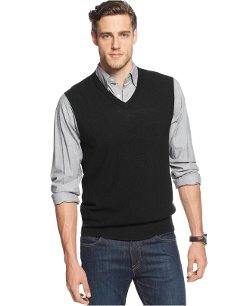 Club Room -  Merino Wool-Blend Sweater Vest