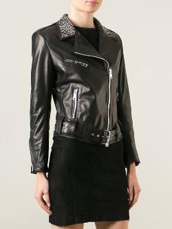Sylvie Schimmel - Studded Collar Biker Jacket