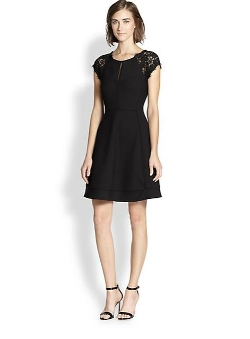Diane von Furstenberg  - Maddie Lace-Trimmed Dress