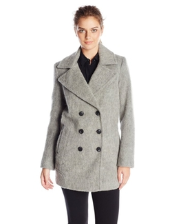Marc New York by Andrew Marc - Wool-Blend Double-Breasted Coat