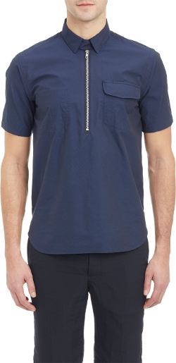 Sacai - Half-Zip Short-Sleeve Shirt