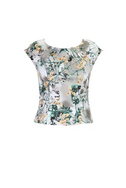 eShakti - Floral Cotton Sateen Blouse