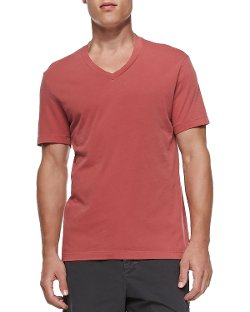 James Perse	 - Cotton V-Neck Tee Shirt