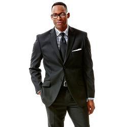Haggar - Striped Black Suit Jacket