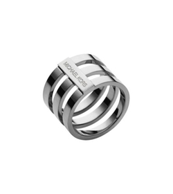 Michael Kors - Silver-Tone Tri-Stack Ring