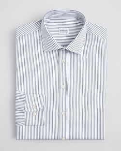 Armani Collezioni  - Stripe Honeycomb Dress Shirt