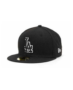New Era 59Fifty - Los Angeles Dodgers Black and White Fashion Cap