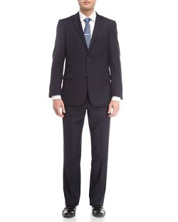 Neiman Marcus  - Solid Wool Modern Fit Suit