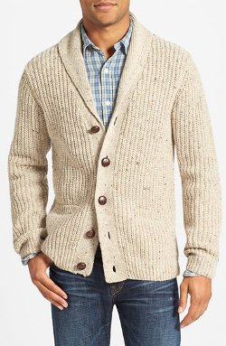 Gant - Ribbed Shawl Collar Cardigan