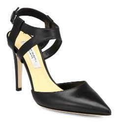 Saks Fifth Avenue Made In Italy - Elysia Leather Ankle Strap Pumps