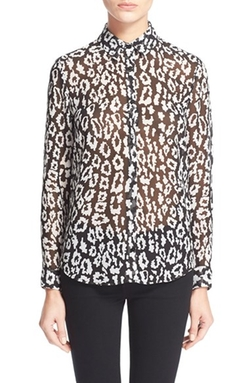 The Kooples - Leopard Print Chiffon Shirt