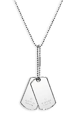 Gucci - Silver Dog Tag Necklace
