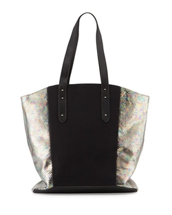 Romy Gold - Snake-Embossed Tote Bag