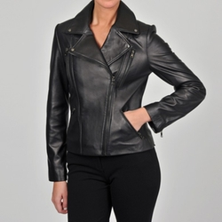 Collezione Italia - New Zealand Lambskin Leather Moto Jacket