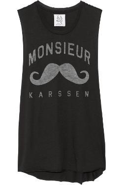 Zoe Karssen  - Monsieur Karssen Cotton and Modal-Blend Jersey Tank