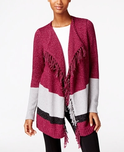 G.H. Bass & Co. - Fringe Open-Front Cardigan