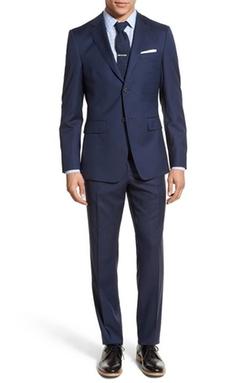Jack Spade  - Trim Fit Solid Wool Suit