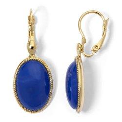 Monet - Gold-Tone Blue Drop Earrings