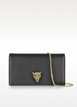 Roberto Cavalli - Panther Leather Clutch Bag